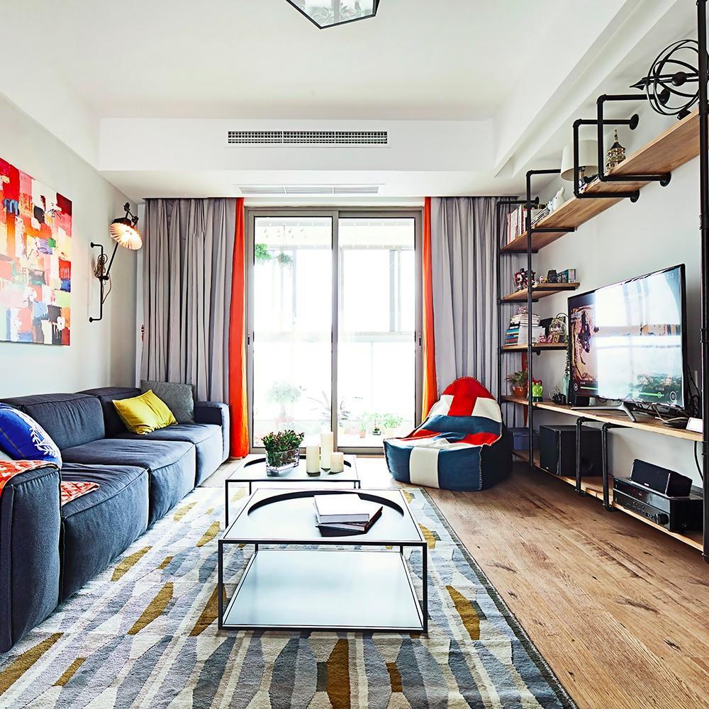 现代文艺范二居客厅装修图