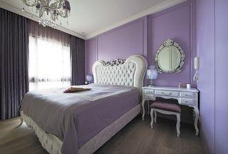 浪漫紫装饰简欧卧室效果图