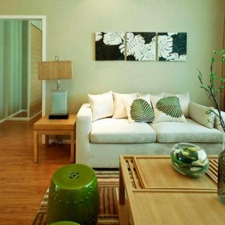 简中式风格客厅相片墙效果图