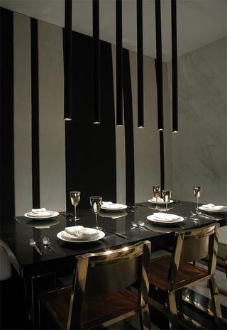 摩登现代黑色餐厅案例图