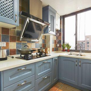 美式田园风厨房橱柜设计