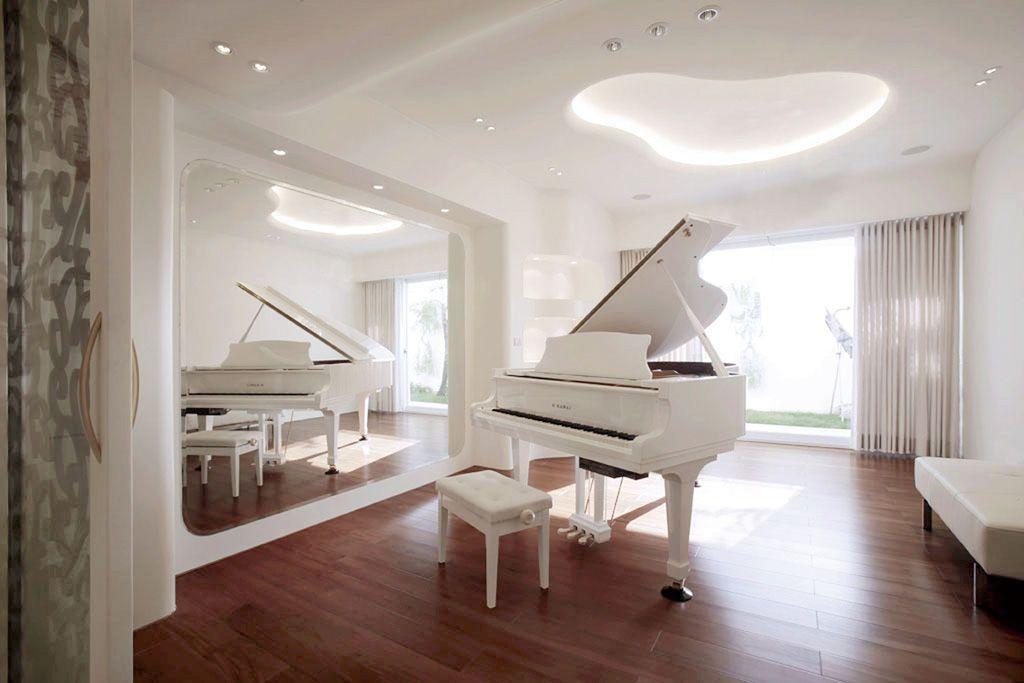 唯美浪漫现代风琴房效果图