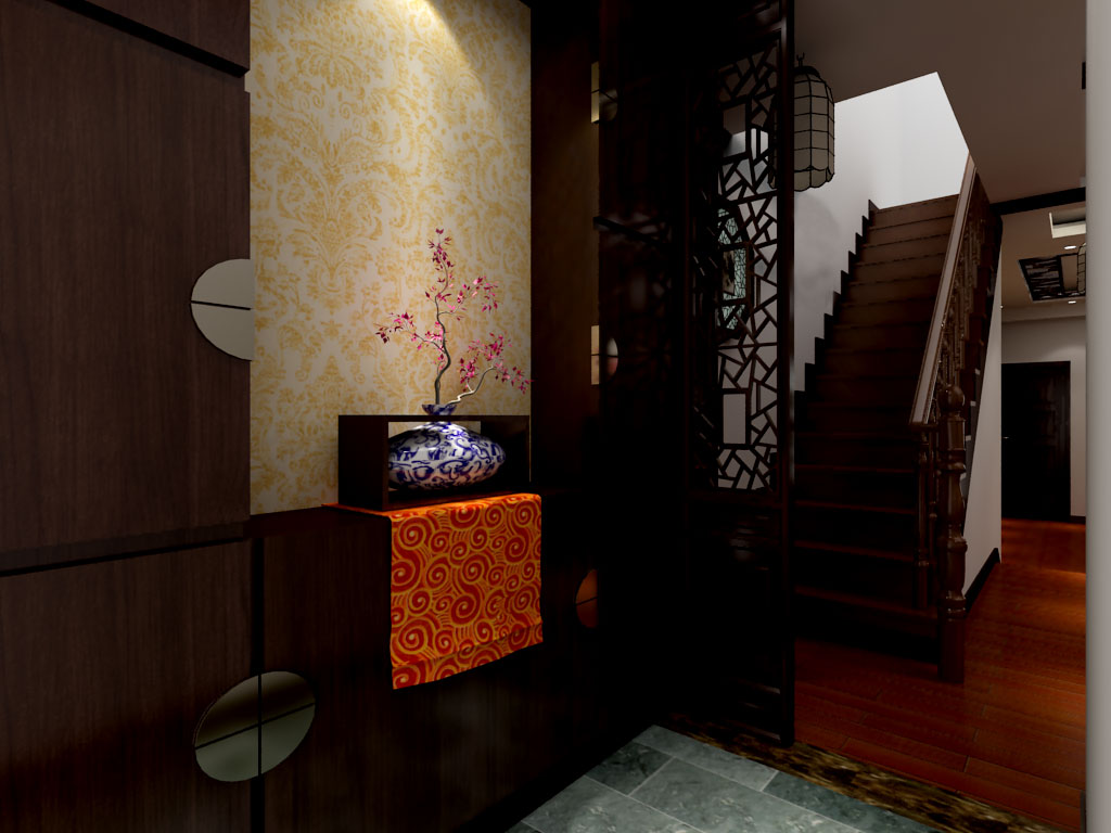 古典中式风家装楼梯设计