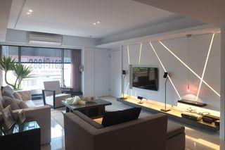 现代日式客厅电视背景墙设计
