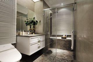 大理石現代衛生間隔斷設計