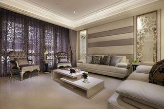 低奢新古典客厅软装设计