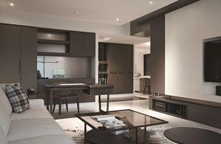 素色现代三居家装效果图