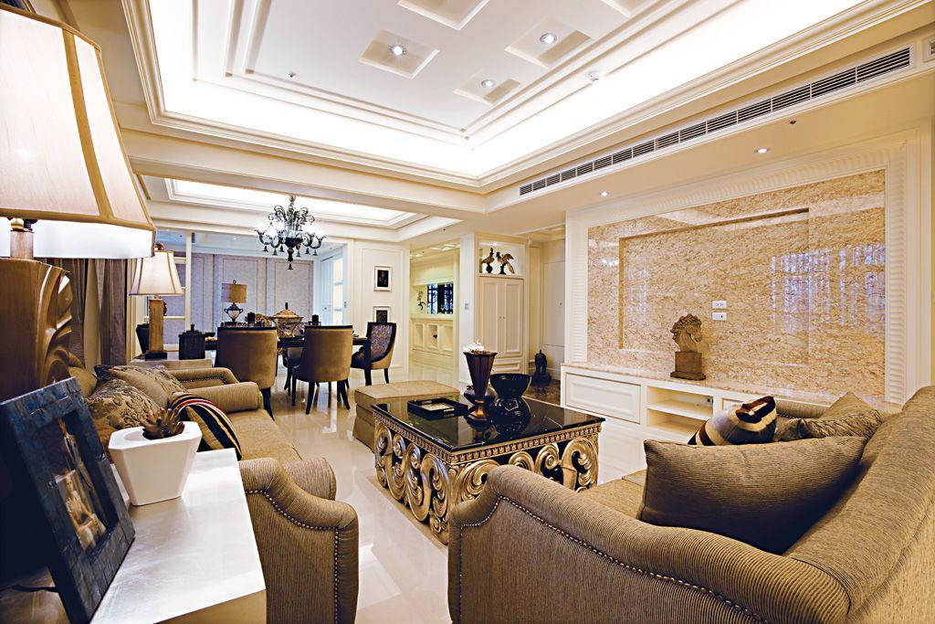 欧式古典风格公寓装修效果图