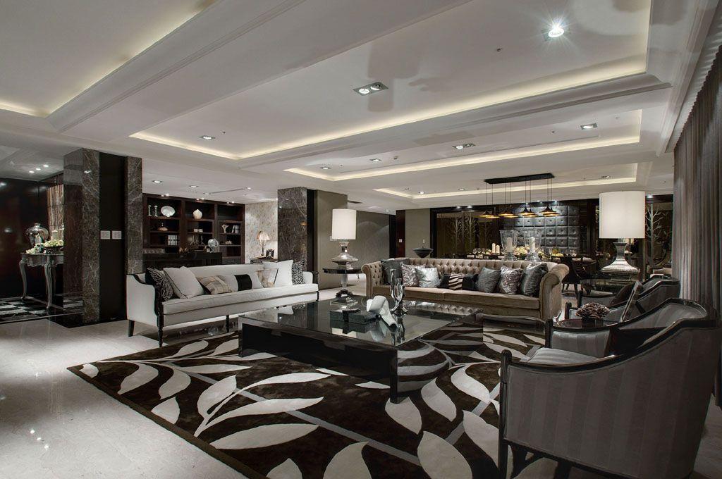 新古典客厅地毯装饰图