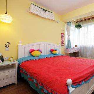清新柠檬黄 韩式田园风卧室设计