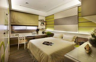 绿色简欧卧室家装点缀效果图