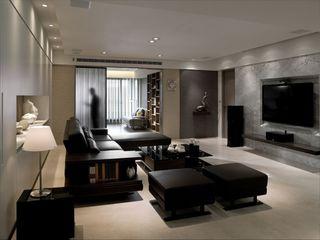 沉稳现代公寓室内效果图