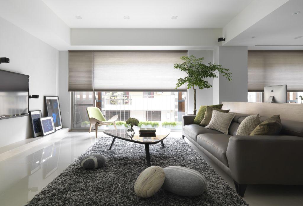 灰色系北欧家装 客厅效果图大全