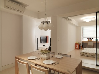 简约家居餐厅实木餐桌椅设计