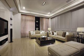 古典欧式三居客厅效果图