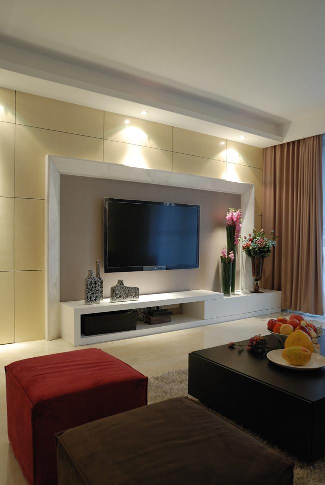 现代简约客厅 电视背景墙造型鉴赏