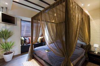 休闲古典美式 卧室床帐效果图