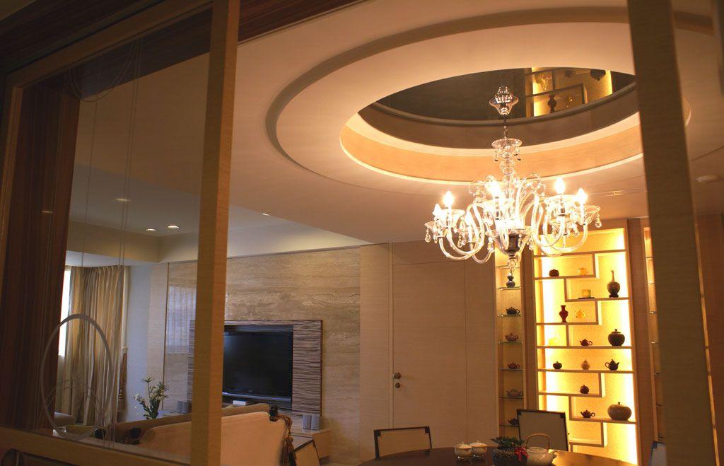 北欧风格餐厅博古架设计