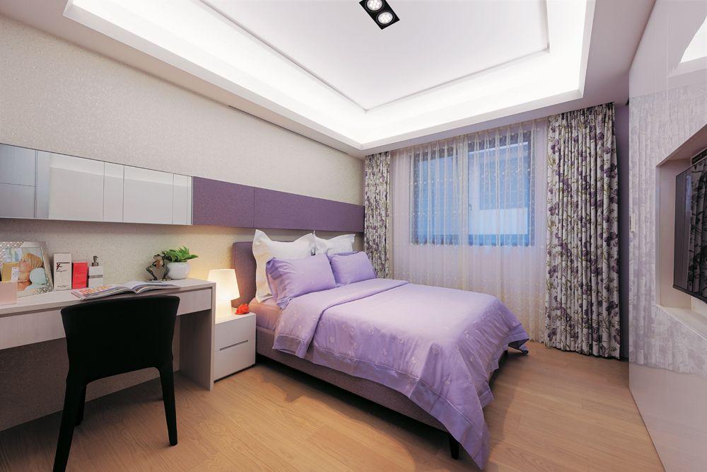 浪漫简约现代风卧室装饰设计