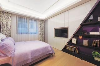 创意现代风卧室 巧妙收纳墙面设计