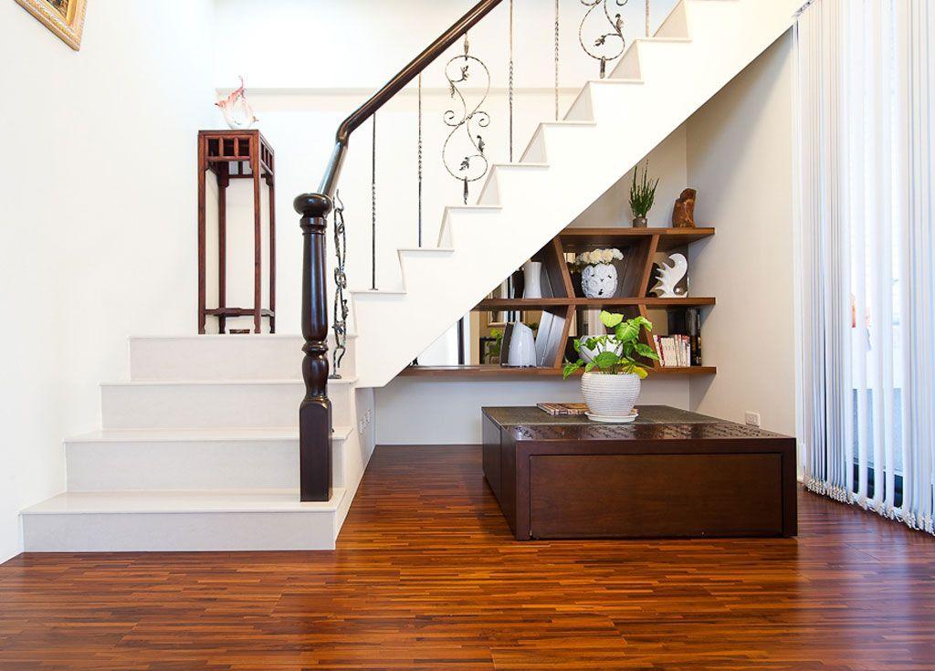 优雅复古美式别墅楼梯间效果图
