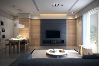 现代简约69平二居装饰设计