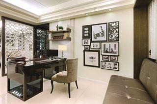 创意新古典书房照片墙欣赏