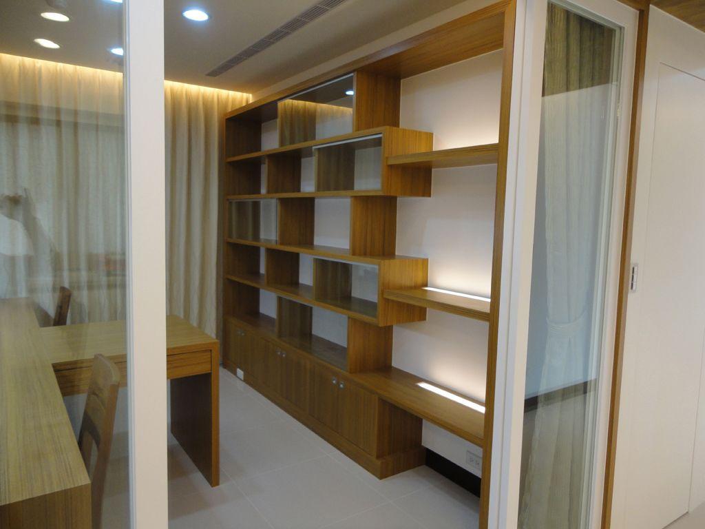 新中式书房博古架设计