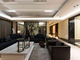 简中式客厅屏风隔断设计图