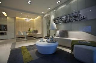 55平创意空间现代风公寓效果图