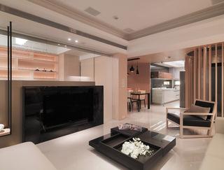 暖咖色宜家日式 三室两厅效果图