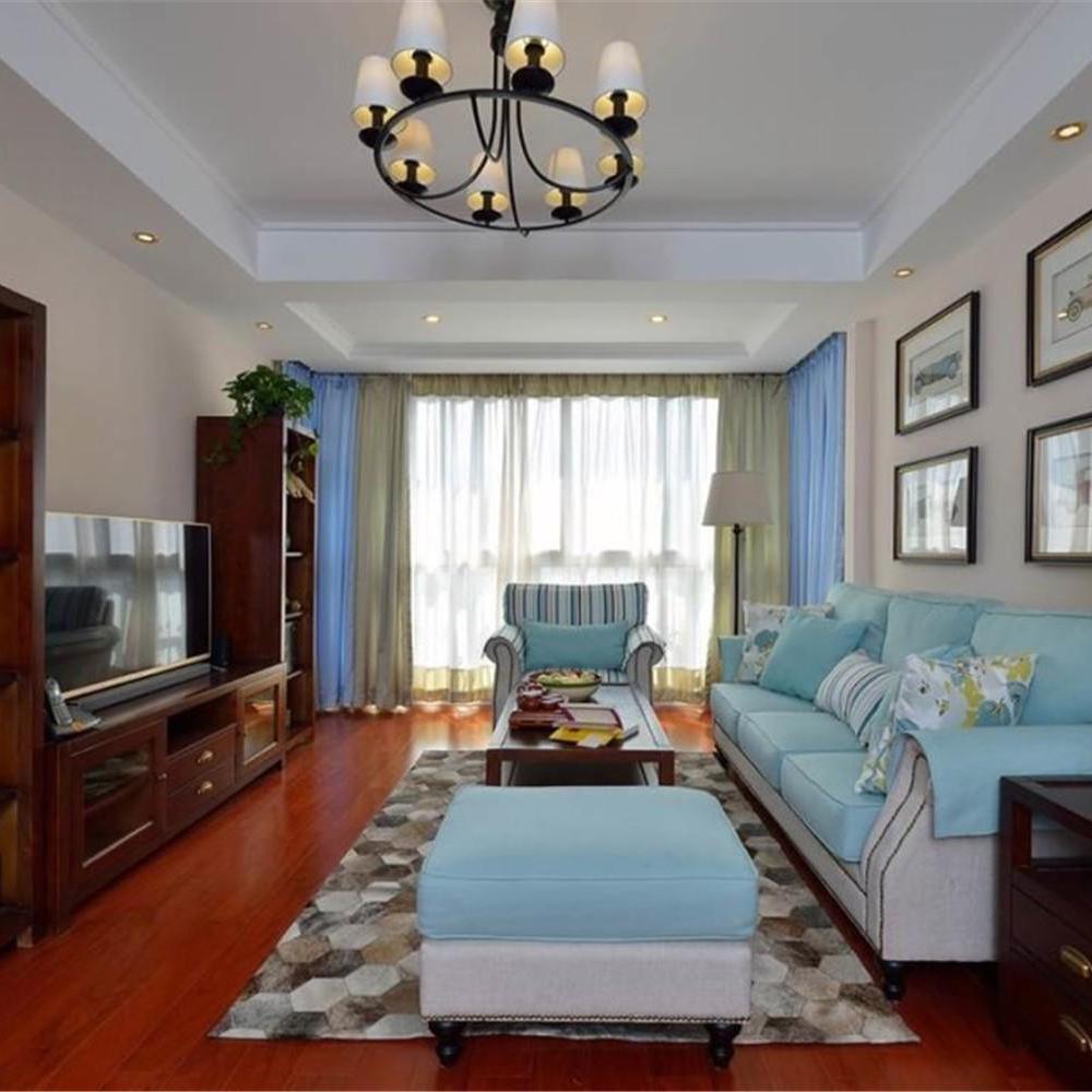 唯美美式二居客厅装修效果图