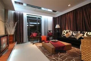新中式136平公寓室内装饰