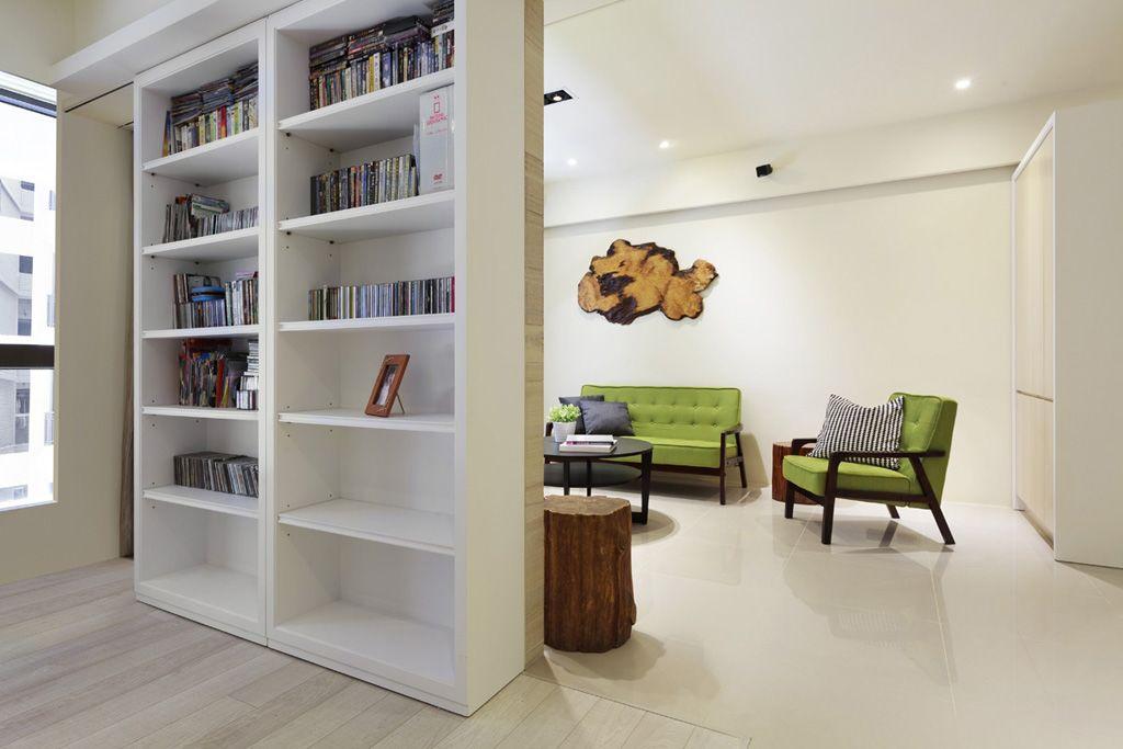 简约创意设计书柜隔断效果图