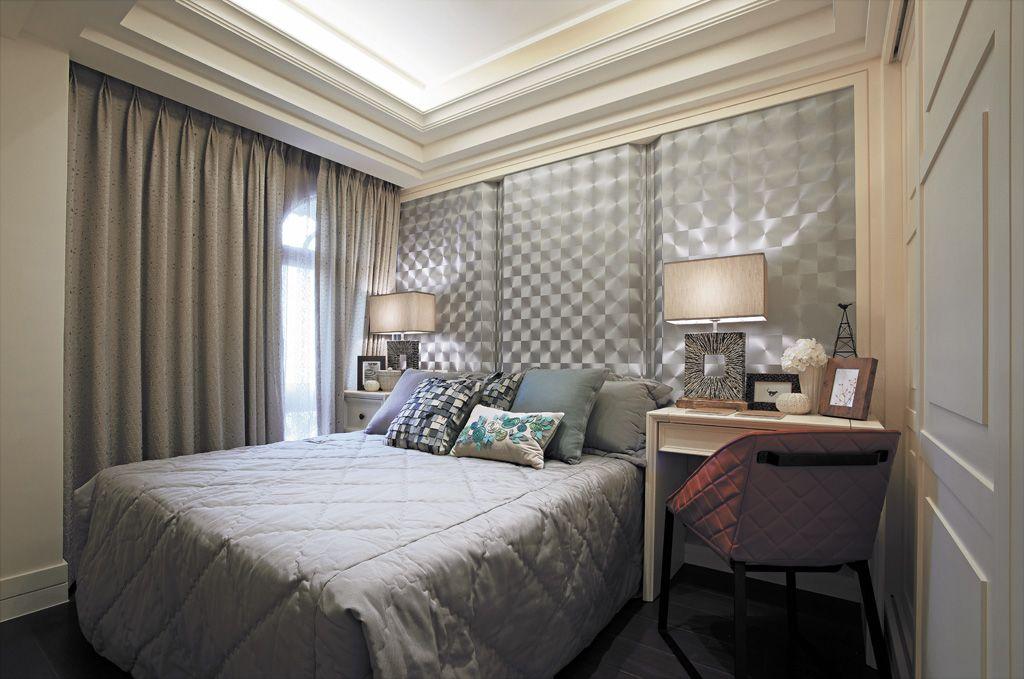 华丽后现代风卧室背景墙效果图