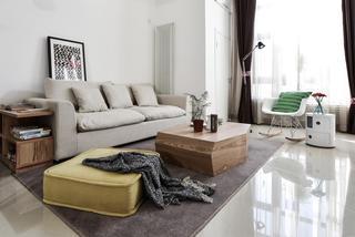 清新自然北欧风 客厅沙发效果图