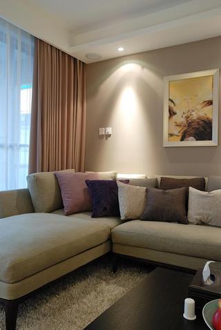 温馨简约客厅窗帘装饰效果图