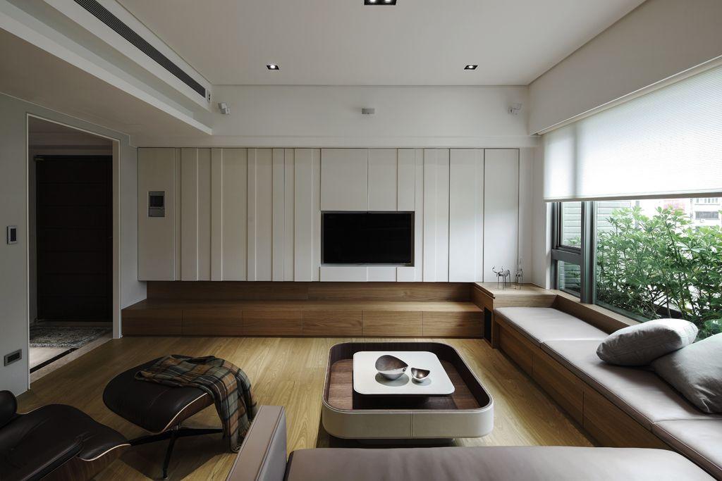 创意宜家风客厅 电视背景墙设计