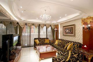 高贵奢华欧式客厅装修效果图