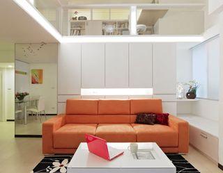 日式宜家风 复式客厅沙发效果图
