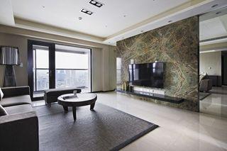 简约后现代客厅 大理石背景墙欣赏