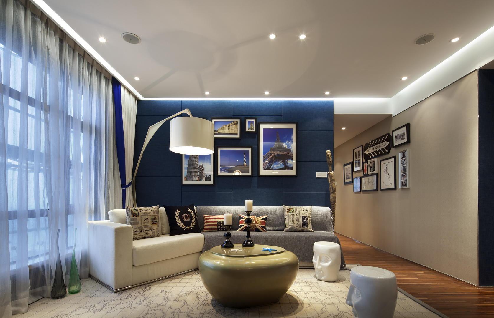 个性混搭风格客厅装饰效果图
