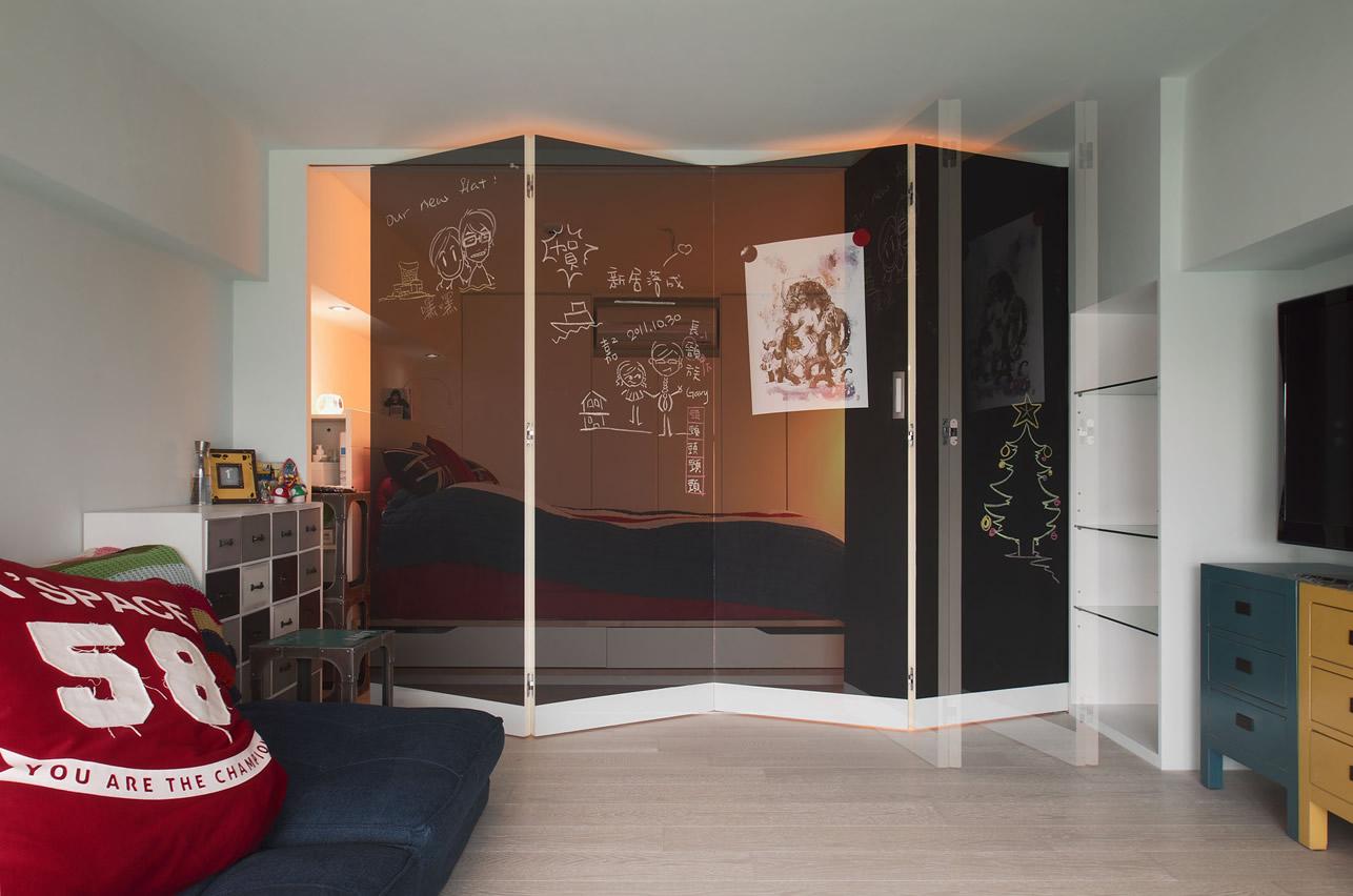 时尚现代风家居 折叠屏风隔断设计