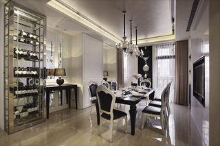 奢华欧式餐厅金属酒柜设计