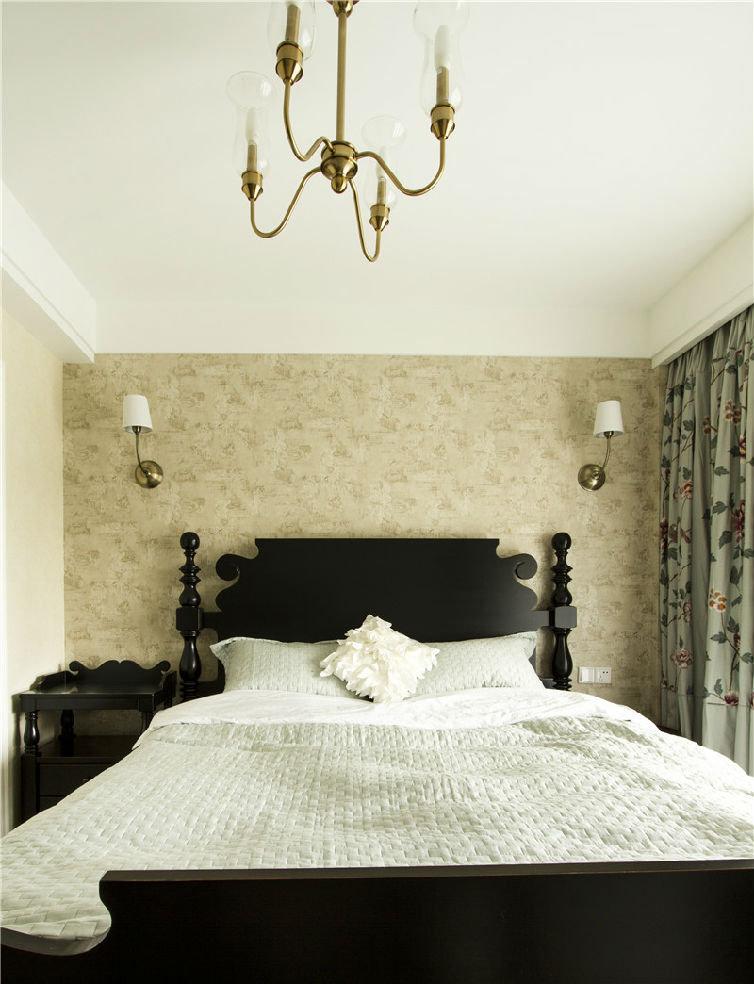 精致温馨美式家居 卧室背景墙效果图