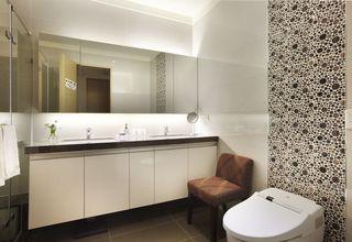 新古典卫生间 雨花石背景墙装饰图