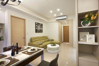 简洁北欧风格客厅沙发装饰图