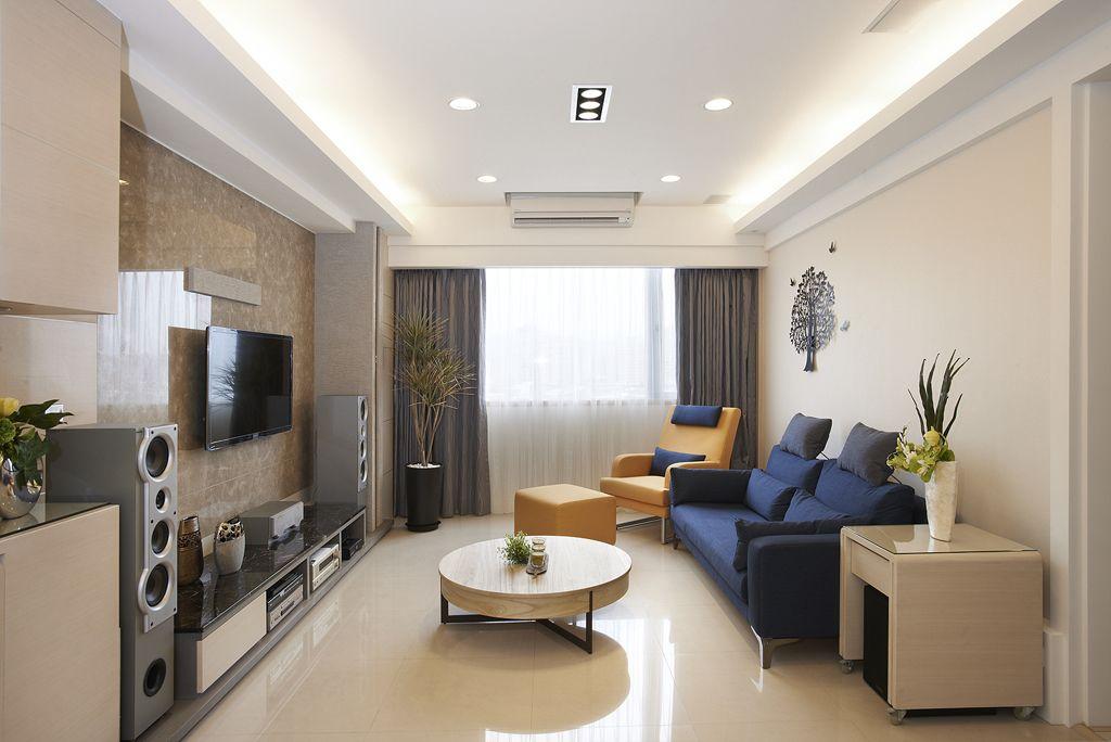 现代小户型客厅整体效果图
