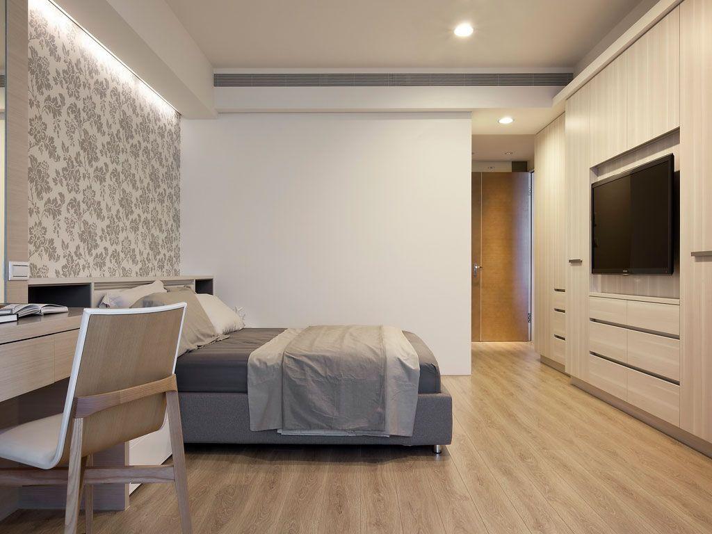原木现代家装卧室效果图