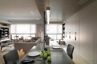 灰色系现代风客餐厅隔断设计